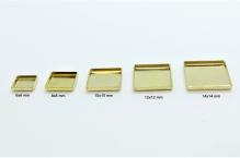 Čtvercová kovová náložka 6x6